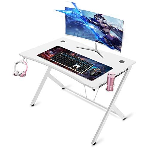 Mr IRONSTONE White Gaming Desk 45.3'...