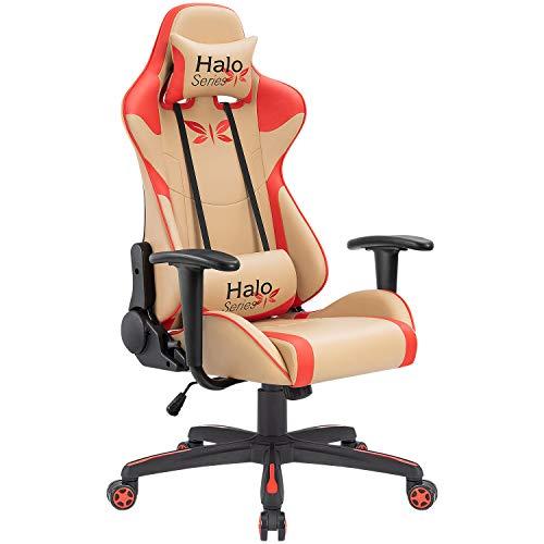 JUMMICO Gaming Chair Adjustable Racing...