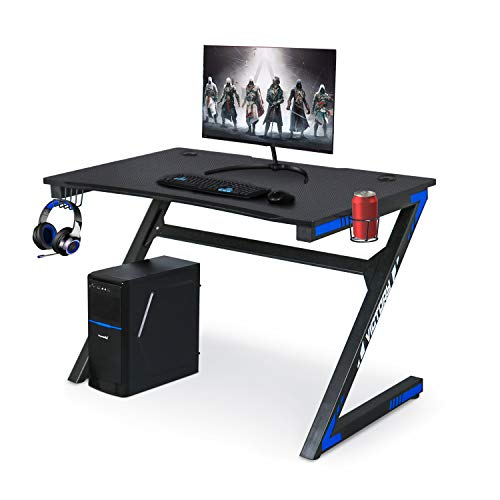 Computer Gaming Desk with Large Carbon...