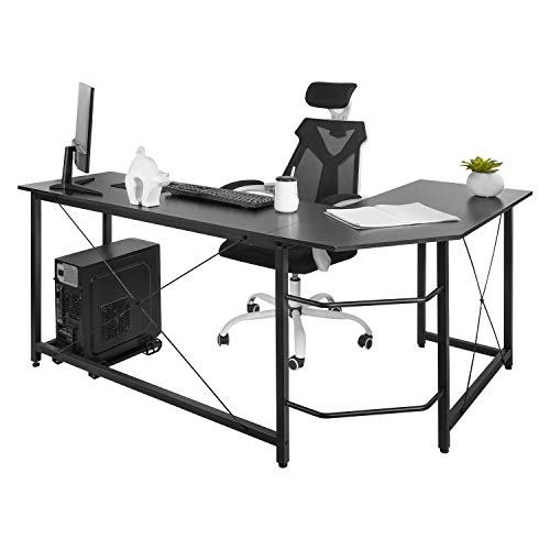 AuAg Modern L-Shaped Home Office Desk...
