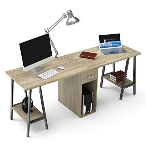 DEWEL Two Person Desk Dual Desk with...