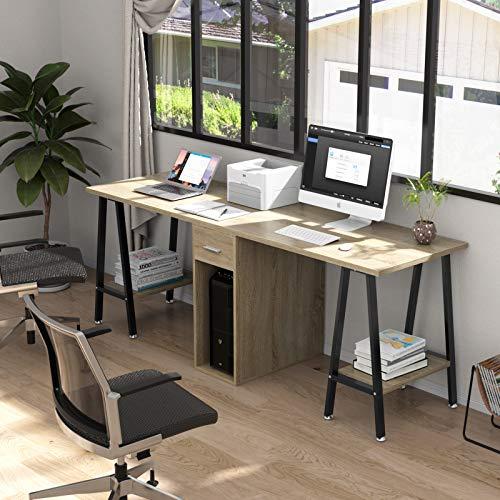 DEWEL 78inch Two Person Computer Desk...