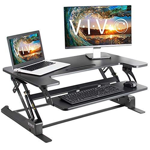 VIVO Height Adjustable Standing Desk Sit...