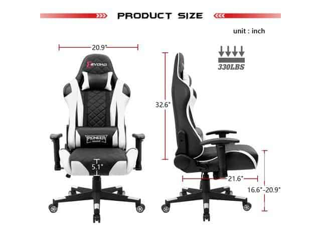 Devoko ergonomic gaming chair Specifications