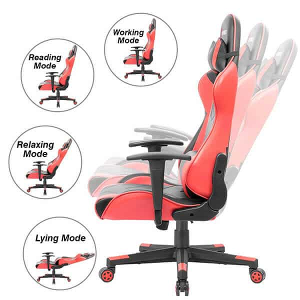 Devoko ergonomic gaming chair Comfort and Ergonomics